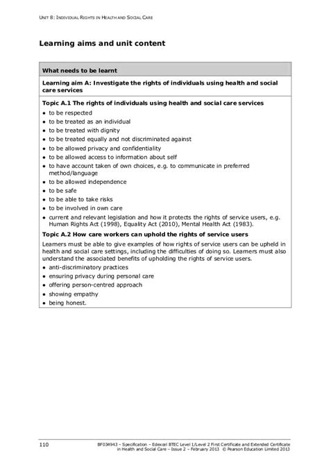 service in rights individual rights specification