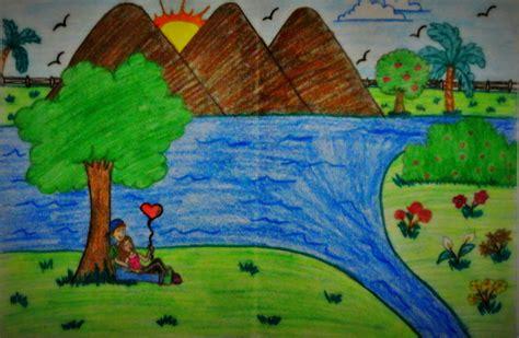 desenho paisagens paisagem desenho animado landscape by tex