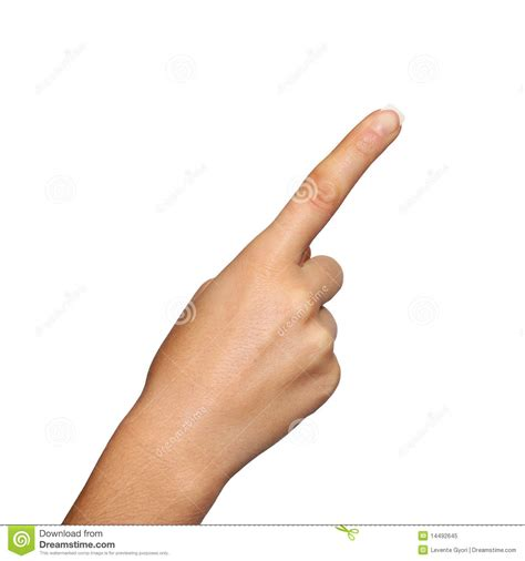 to finger pointing finger stock image image of number caucasian
