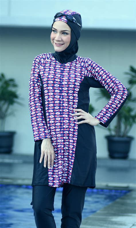 Baju Renang Ammara amr60 baju renang ammara baju bersambung dengan seluar haleema swimwear