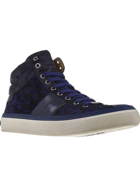 jimmy choo sneaker jimmy choo belgravia hitop sneaker in blue for lyst