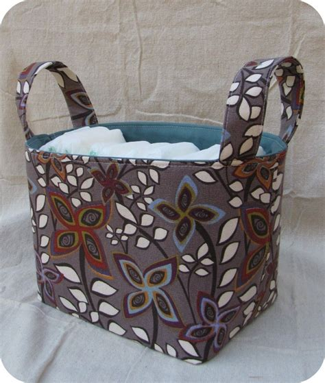 Pattern Fabric Storage Basket | household storage caddy free tutorial and pattern