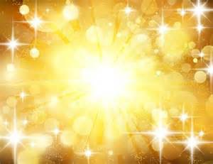 star light with halation golden background vector vector