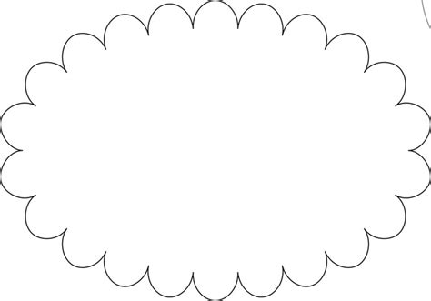 scalloped edge template 7 best images of printable scalloped frames templates