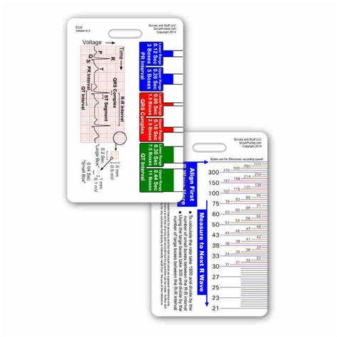 pocket reference card template ekg ruler vertical badge id card reference pocket guide rn