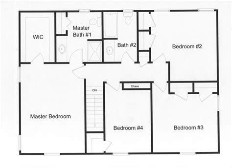 4 Bedroom House Plans Master On 4 Bedroom Floor Plans Monmouth County County New