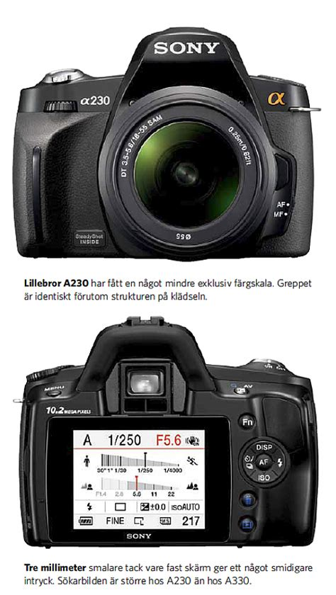 Kamera Sony A230 test sony a230 och a330 kamera bild