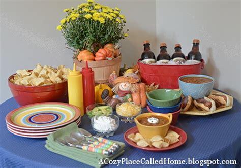 On The Menu Monday Week Of October 8 2012 Chili Buffet Menu