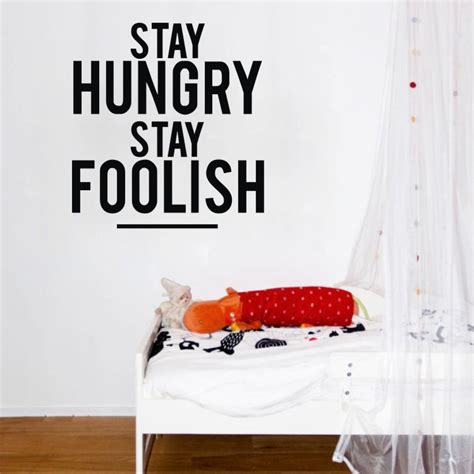 Sentences About A Bedroom In Stay Hungry Quality Vinyl Black Wall Sticker Sentences