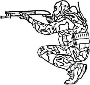 military army shooting shotgun coloring pages bulk color