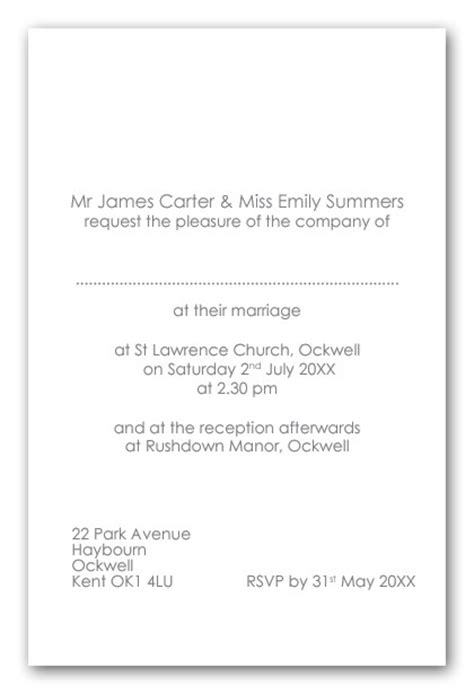 wording for wedding invitations from and groom wedding invitation wording wedding invitation wording uk