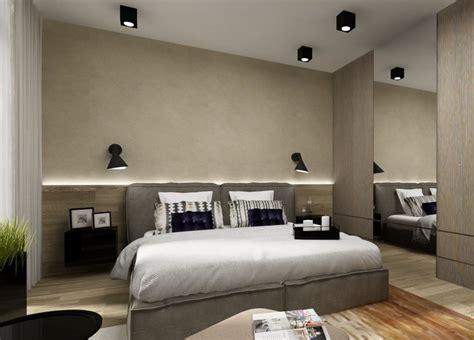 schlafzimmer bett holz indirekte beleuchtung led schlafzimmer wand hinter bett