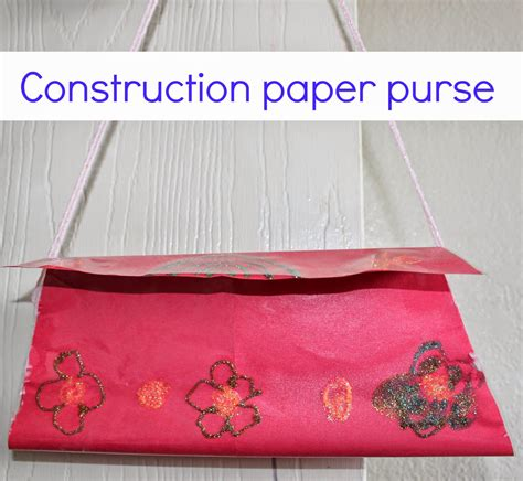 How To Make Small Bags Out Of Paper - construction paper purse sparklingbuds