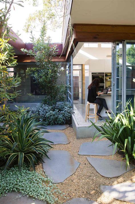 seamless indoor outdoor courtyard designed  peter
