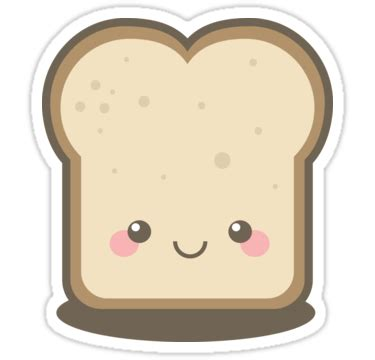"""keep smiling kawaii slice of bread"" stickers by lisa"