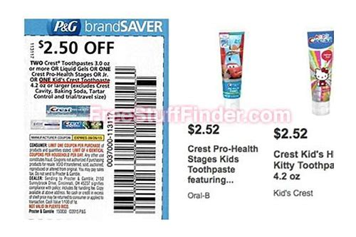 crest toothpaste coupon deals