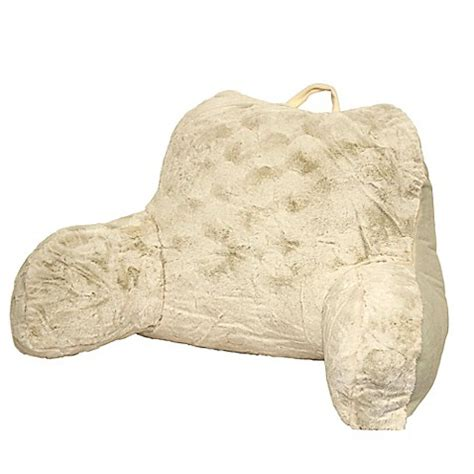 bed bath and beyond husband pillow crystal faux fur backrest bed bath beyond
