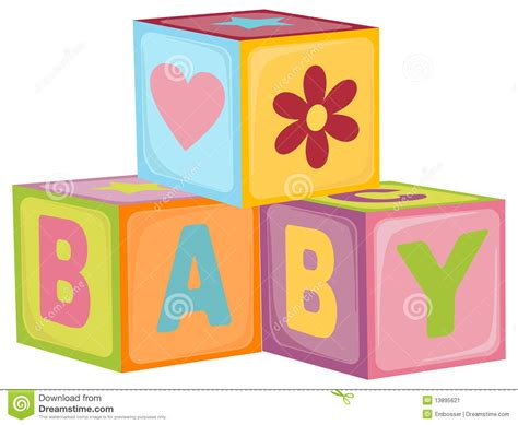 baby shower babies for cubes baby s letter cubes stock vector image of
