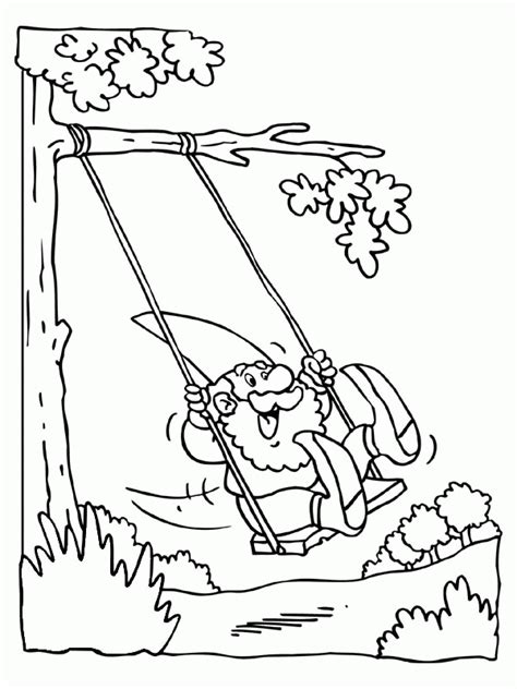 Swing Coloring Page - Coloring Home