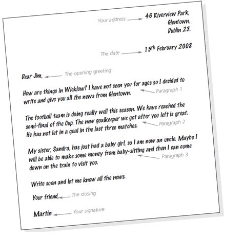 Formal Letter Exle Year 6 Formal And Informal Letters Road To Get Bac Material