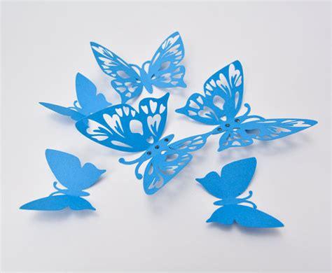3d Butterfly Decoration 2 Navy Blue Khemiko Shops blue butterfly wall 3d butterfly wall decor paper