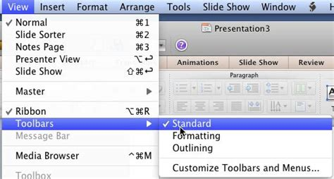 Powerpoint Outline View Mac by Standard Toolbar In Powerpoint 2011 For Mac
