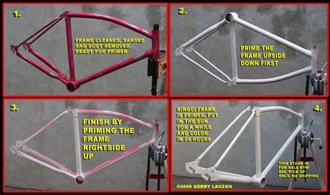 Sprei Fata No 1 Bicycle great canadian bike overhaul sanding and priming the