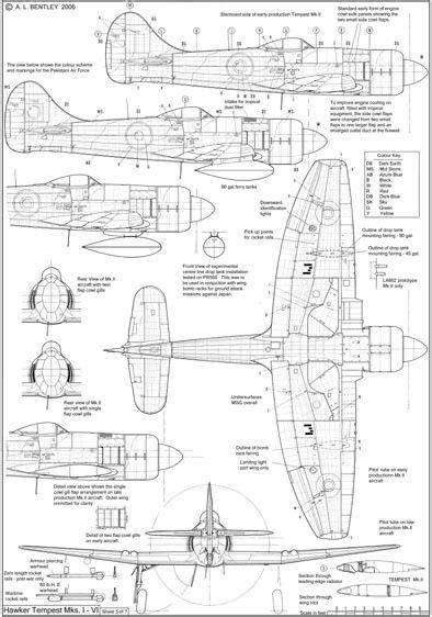 Hawker Tempest Sheet 5   Hawker Tempest   Pinterest