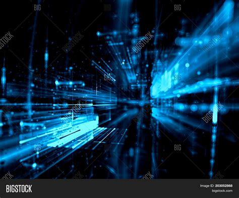 fractal background blue fractal background image photo bigstock