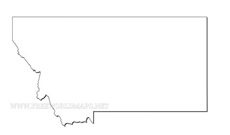 blank map of montana montana maps