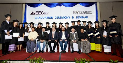 Mba 2017 Graduate by Graduation Ceremony 2017 Eec Business School In Myanmar