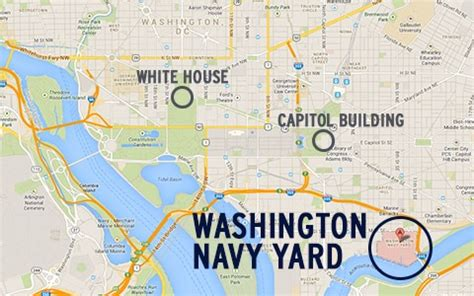 washington dc map navy yard update 12 dead and what is the washington naval yard