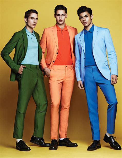 colorful suits burning bright out magazine