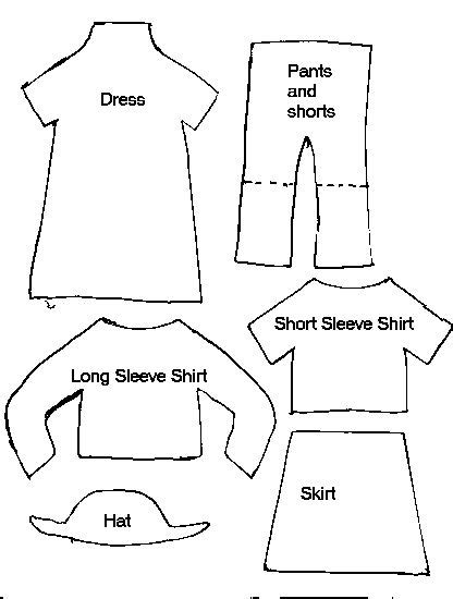 clothing templates sewing libraries paper and clothes