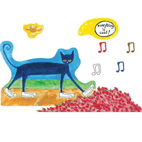 pete the cat i my white shoes pre cut felt set