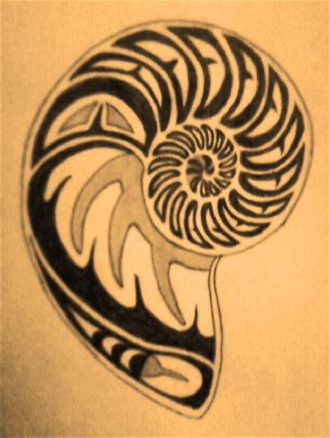 shell tattoo designs shell ideas nautilus shell design by