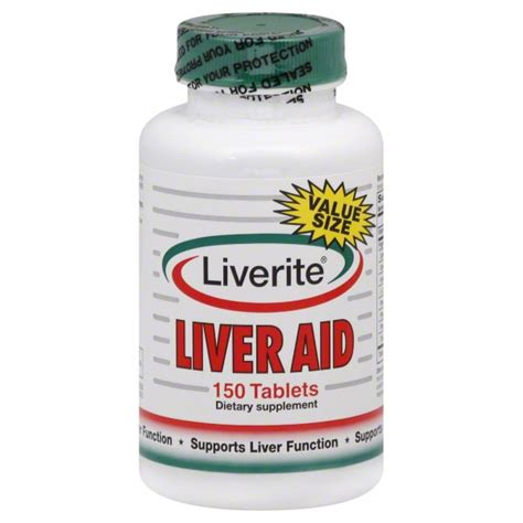 Rite Aid Liver Detox by Liverite Liver Aid Tablets Value Size 150 Tablets