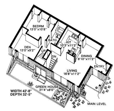 Earth Sheltered Home Plans by Contemporary Earth Sheltered S House Plan 19863 House