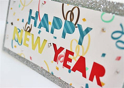 Handmade New Year Cards - happy new year handmade cards using silhouette cameo