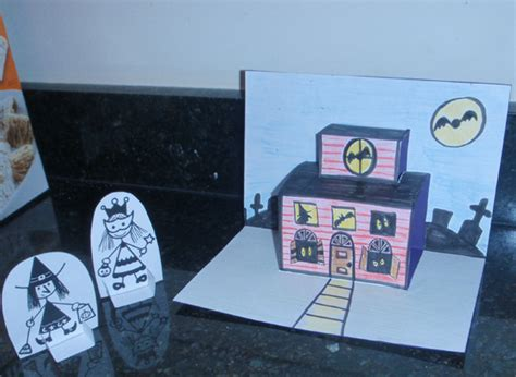 how to make a card house how to make haunted house pop up cards for