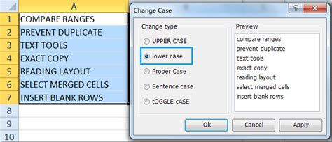 excel format uppercase text how to change uppercase to lowercase in microsoft excel