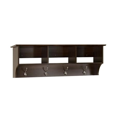 prepac espresso entryway shelf the home depot canada