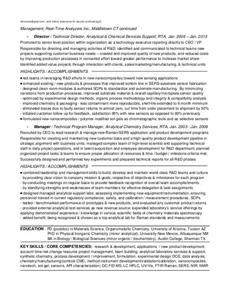 Resume R D Manager by 1b1 Fei Resume R D Sr Manager 2015