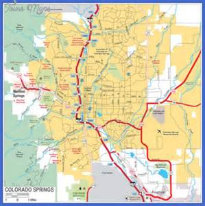 colorado springs map map travel vacations