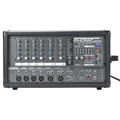Mixer Power phonic powerpod620 plus powered mixer at gear4music