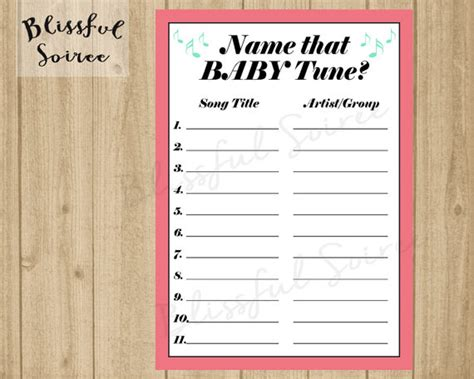 Songs With Baby In The Title Baby Shower by Name That Baby Tune Name That Tune Baby Shower