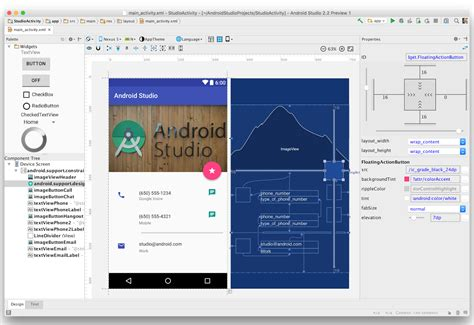 android studio layout preview scroll techlabroid