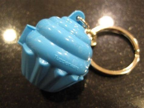 Tupperware Cupcake Keychain tupperware mini cupcake keychain blue new by tupperware