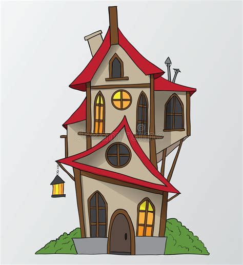 house drawing stock images royalty free images vectors funny house cartoon vector illustration stock vector