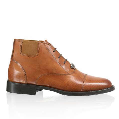 bromley shoes berkley lace up ankle boot in leather bromley